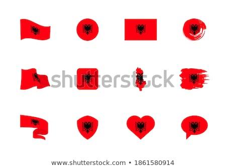 Arnavutluk · kalp · bayrak · vektör · görüntü · doku - stok fotoğraf © Amplion
