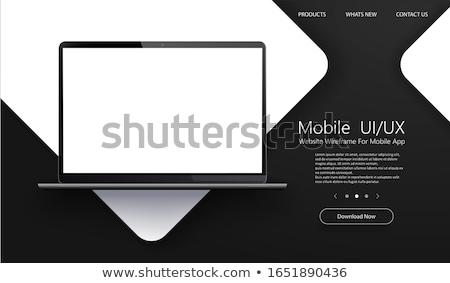 zawartość · obrotu · laptop · ekranu · 3d · ilustracji - zdjęcia stock © tashatuvango
