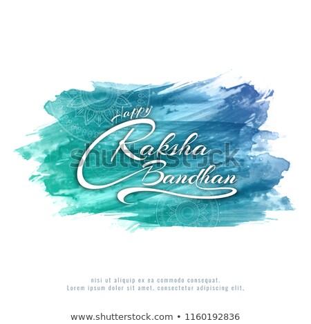 Abstrato artístico azul projeto ouro Ásia Foto stock © pathakdesigner
