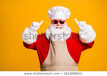chef points his finger gesture Stock photo © studiostoks