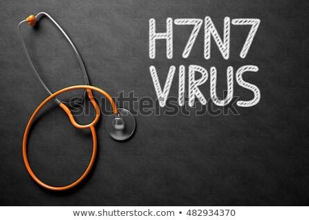 Quadro-negro ilustração 3d médico preto vírus Foto stock © tashatuvango