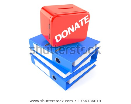 donations on business folder in catalog stock photo © tashatuvango
