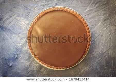 Chocolate torta casero blanco placa Foto stock © Digifoodstock