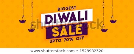 Gelukkig diwali verkoop banner ontwerp lamp Stockfoto © SArts