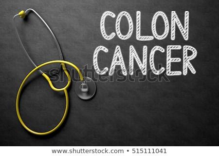 quadro-negro · ilustração · 3d · médico · preto · vermelho - foto stock © tashatuvango