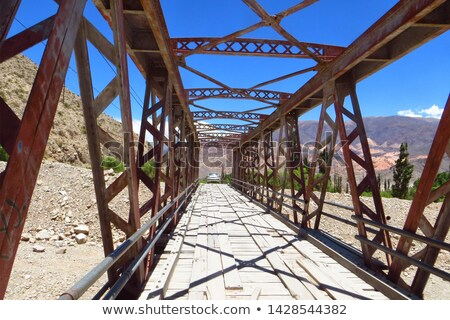 Oude brug Argentinië hemel wereld woestijn Stockfoto © daboost
