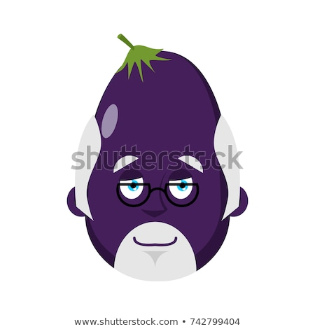 Eggplant Doctor avatar. Purple vegetable Physician emoji. Vector Stock photo © popaukropa