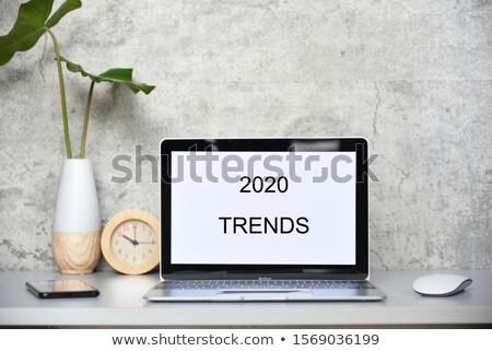 Stok fotoğraf: Dizüstü · bilgisayar · ekran · popülerlik · büyüme · modern · işyeri