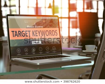 Target laptop scherm landing pagina Stockfoto © tashatuvango