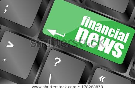金融 ニュース ボタン アルミ キーボード キー ストックフォト © tashatuvango