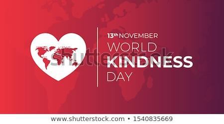 13 · wereld · vriendelijkheid · dag · kalender · wenskaart - stockfoto © Olena