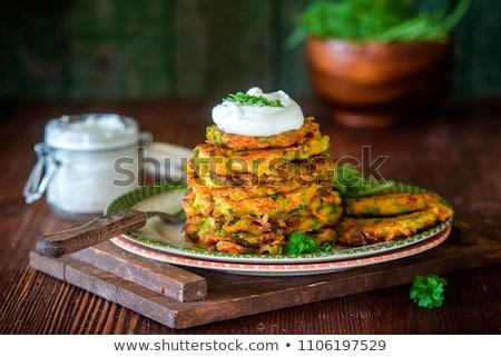 Stock photo: Fried potato pancakes