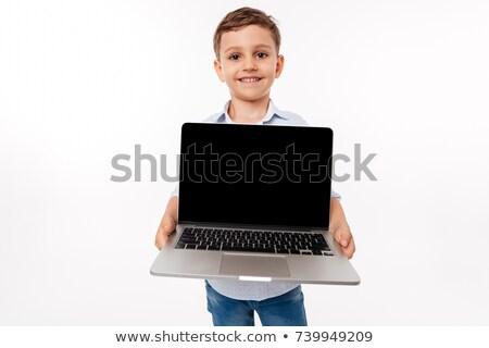 Stockfoto: Portret · cute · weinig · kid · tonen · scherm