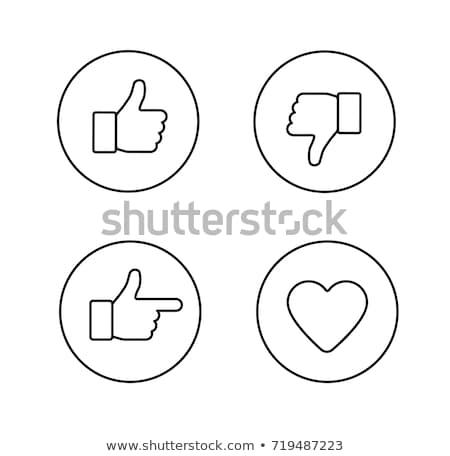 Hüvelykujj felfelé szimbólum szett stílus ahogy Stock fotó © Andrei_