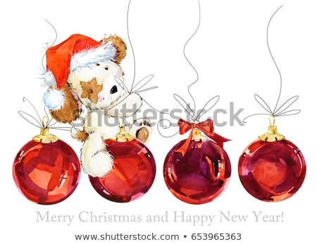 greeting card   puppy of Christmas toy Stock photo © Olena