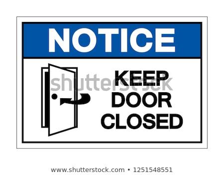 クローズアップ 白 ドア にログイン ドアノブ 空っぽ ストックフォト © robuart