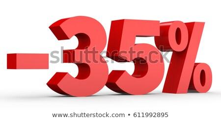 Rouge moins trente cinquième pour cent signe Photo stock © Oakozhan