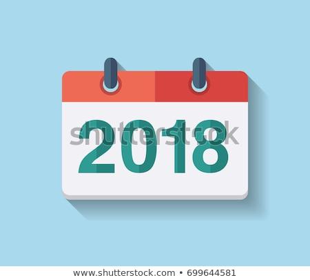 Icon calendar spiral 2018 year stock photo © Oakozhan