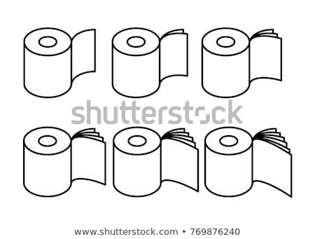 papír · szalag · zsemle · szett · vektor · fürdőszoba - stock fotó © popaukropa