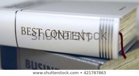 Boek titel best inhoud 3D Stockfoto © tashatuvango