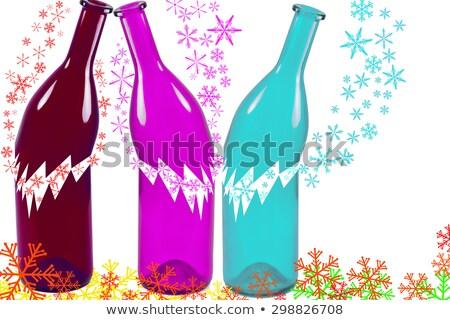 törött · üveg · bor · fehér · erő · csepp · alkohol - stock fotó © denismart