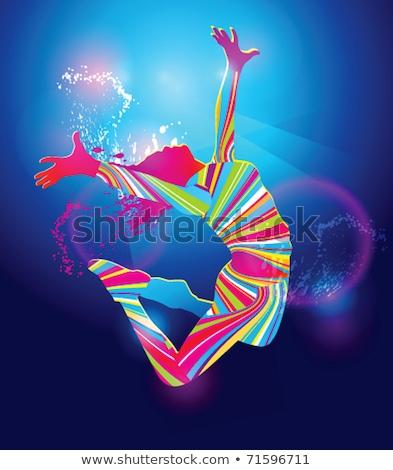 Ragazza jumping riflettori dancing energia libertà Foto d'archivio © IS2