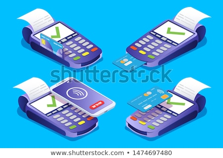 bank terminal for payments by card processing stock photo © loopall
