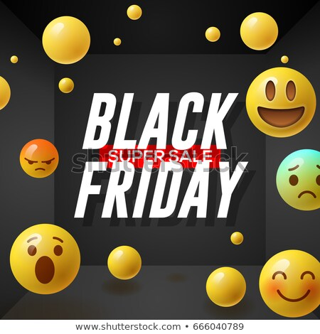 Black friday super venda cartaz sorridente Foto stock © ikopylov