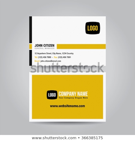 elegant yellow black modern business card design Stock photo © SArts