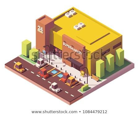 Street food store isometric 3D icon Stock photo © studioworkstock