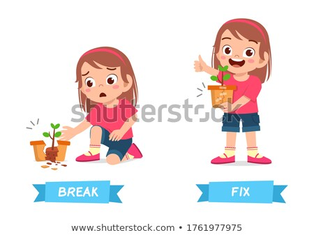 Ellenkező szavak törik gyermek diák háttér Stock fotó © bluering