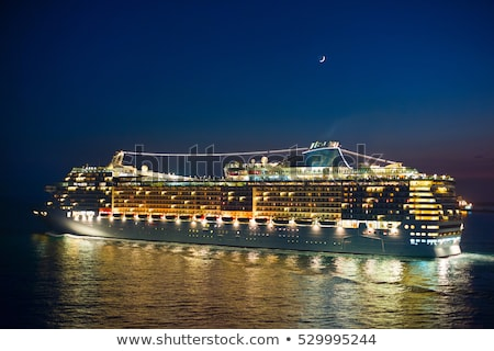 cruise liner and new moon stock photo © joyr
