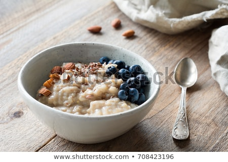 porridge, cereal and fruit Stock photo © M-studio