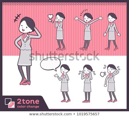 Tipo cabina oficina amor mujeres corazón Foto stock © toyotoyo