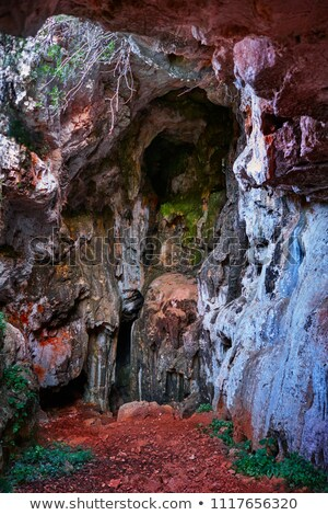 Cova del Camell cave in Montgo of Denia Stock photo © lunamarina