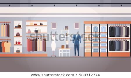 Women clothes store indoor interior illustration Stock photo © vectorikart