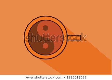 Coffee cup graphic ying-yang Stock photo © Zela