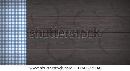 Sötét fából készült sör lenyomat szalag eps Stock fotó © limbi007