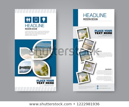 Flyer template with droplet Stock photo © orson