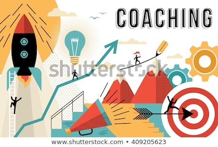 ビジネス コーチング 男 を実行して アップ 手描き ストックフォト © RAStudio