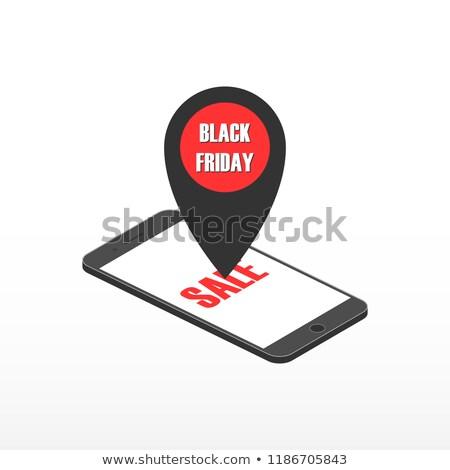 телефон · черная · пятница · иллюстрация · мобильного · телефона · магазине - Сток-фото © aisberg