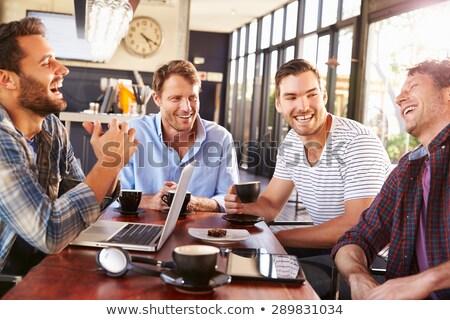 ビジネスの方々  レストラン 表示 ビジネス 技術 ストックフォト © Kzenon