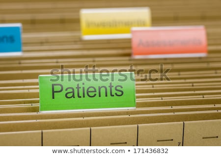 File folders with a tab labeled Patients Stock photo © Zerbor