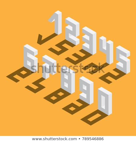 drop shadow digit numbers 0 9 3d stock photo © djmilic