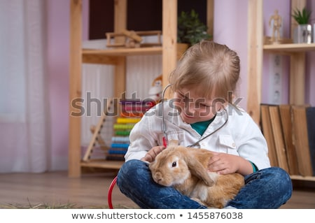 Children Taking Sick Rabbit To Vet  Stock photo © monkey_business