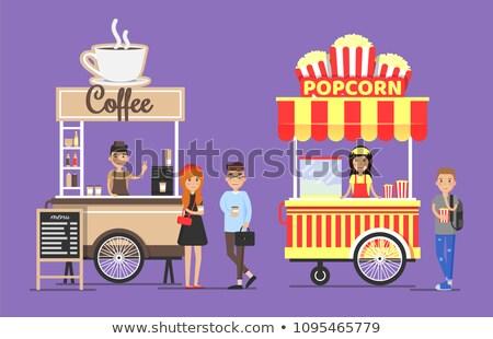 кофе попкорн парка деревья Сток-фото © robuart