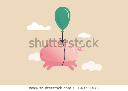 Coins Fly Financial Freedom Illustration Stock photo © lenm