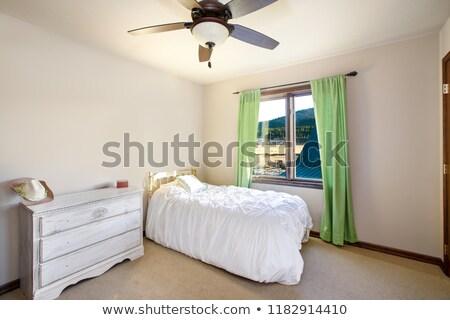 свет бежевый гость спальня кровать груди Сток-фото © iriana88w