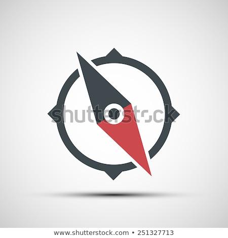 черный компас икона вектора знак карта Сток-фото © blaskorizov