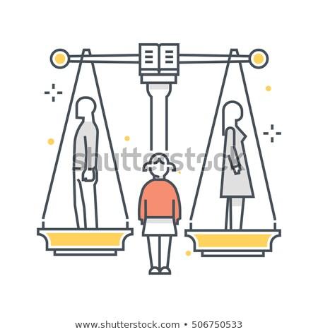 Familie echtscheiding kind conflict vector Stockfoto © blaskorizov
